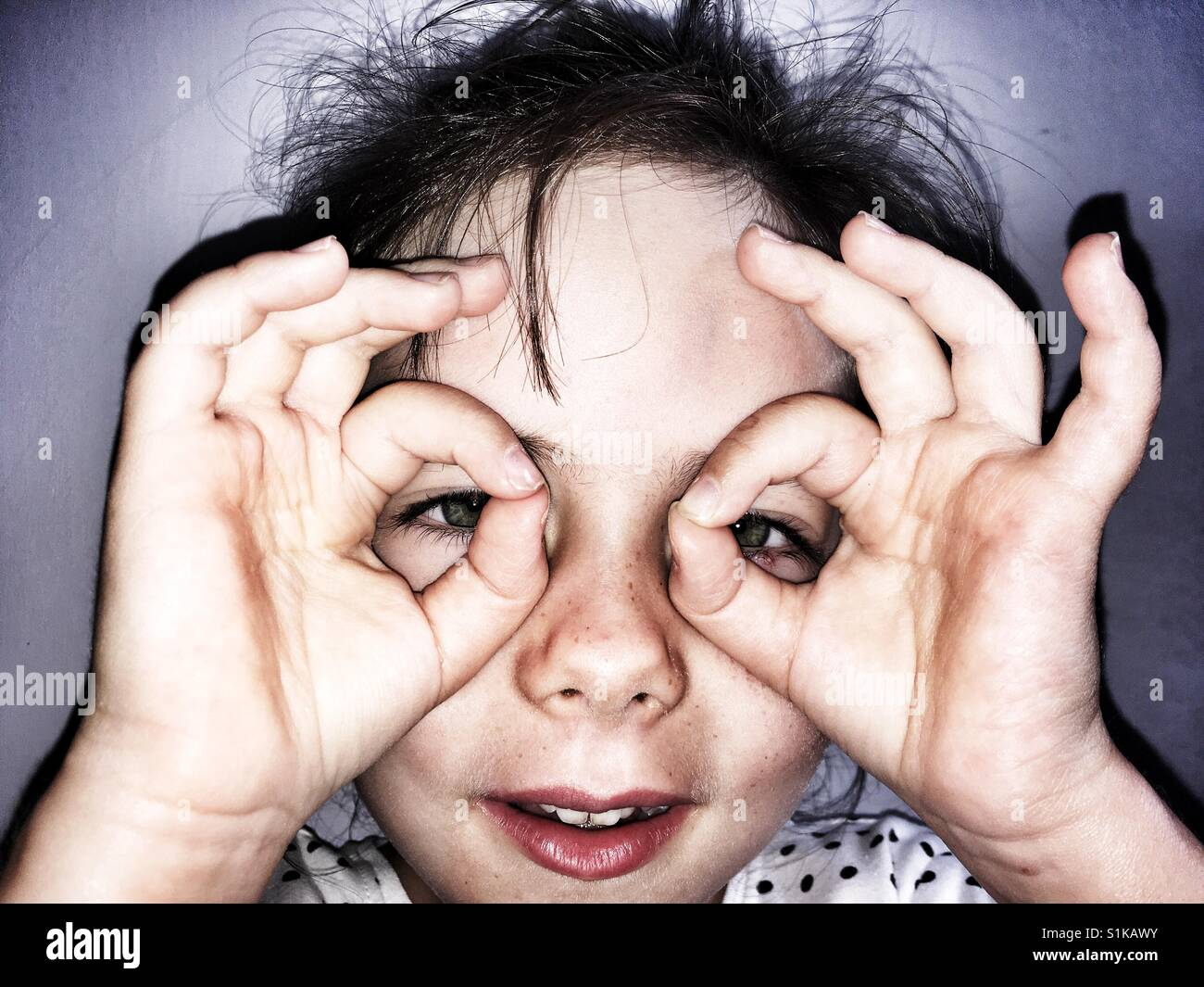 Making a spectacle of oneself - Stock Image