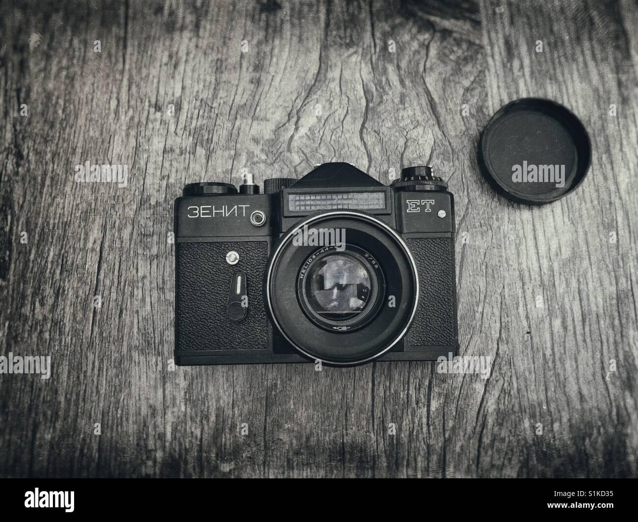 Zenit ET 35 mm film SLR camera - Stock Image