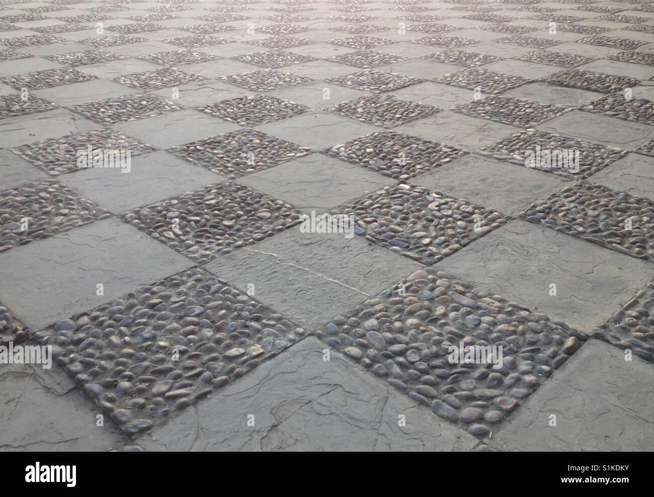 A public plaza in Seville, Spain (landscape orientation). Taken by Matthew Oakes. - Stock Image