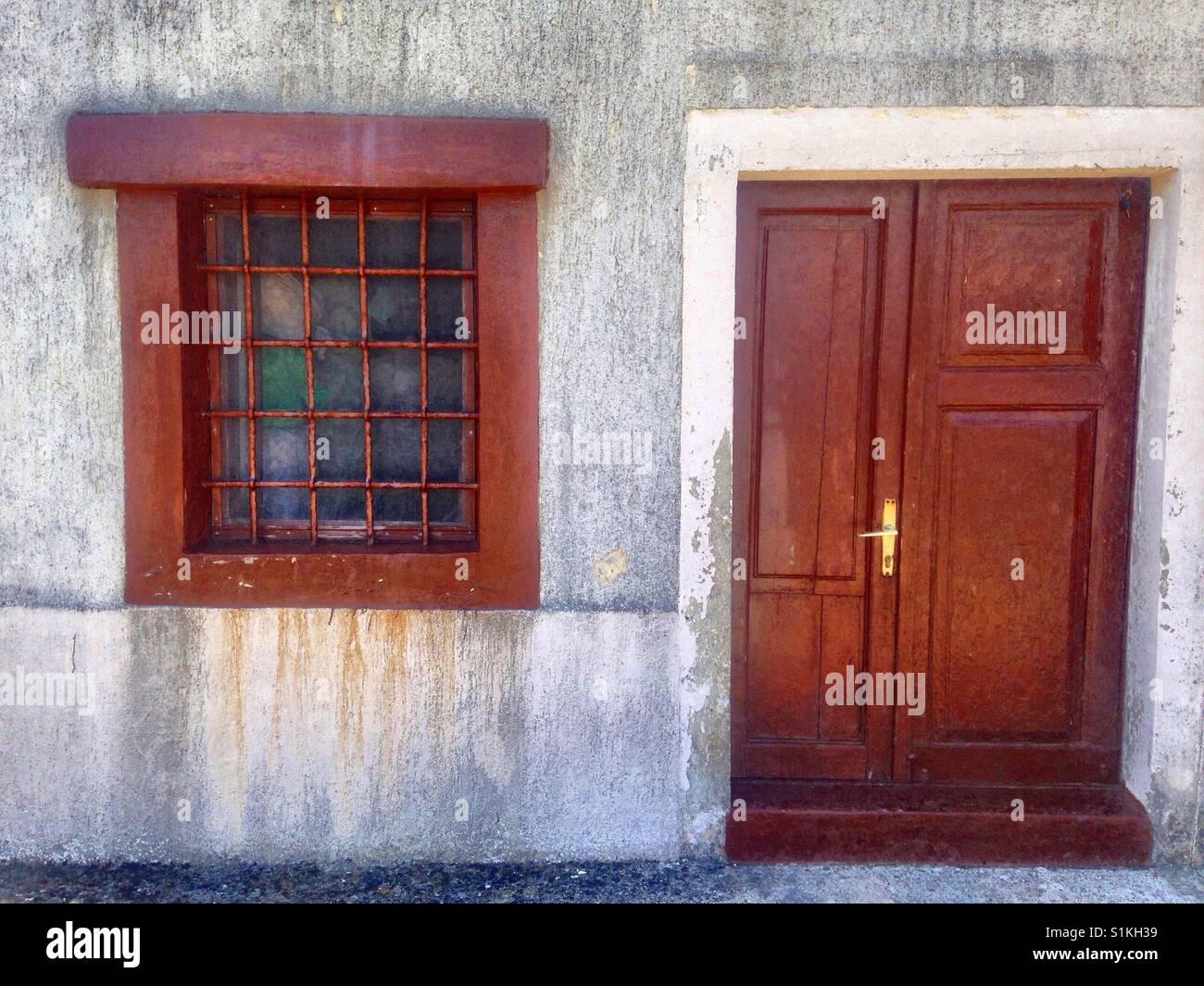 Old house door - Stock Image
