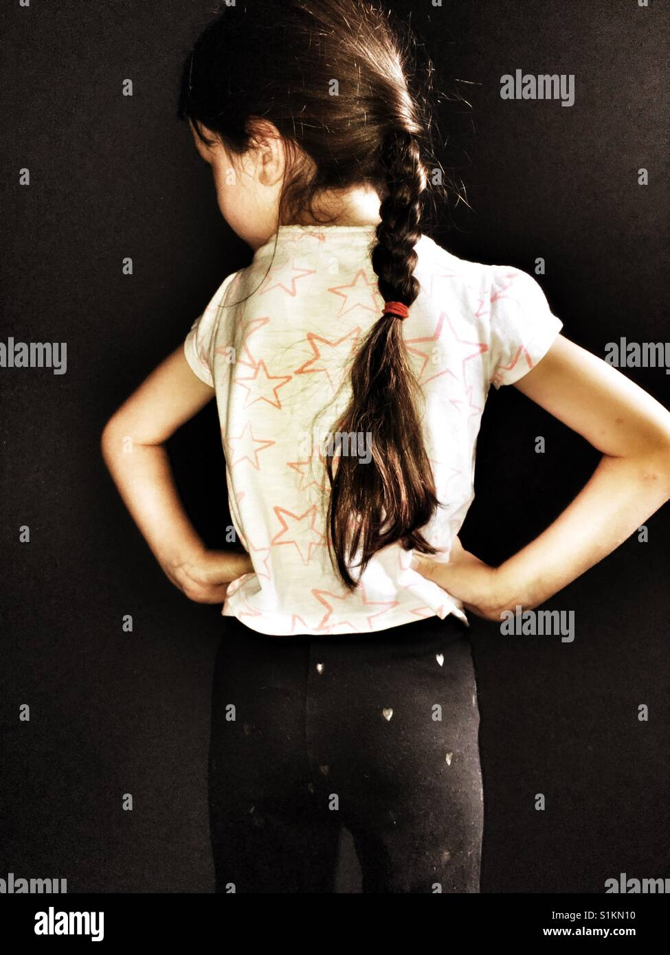 Girl with ponytail - Stock Image