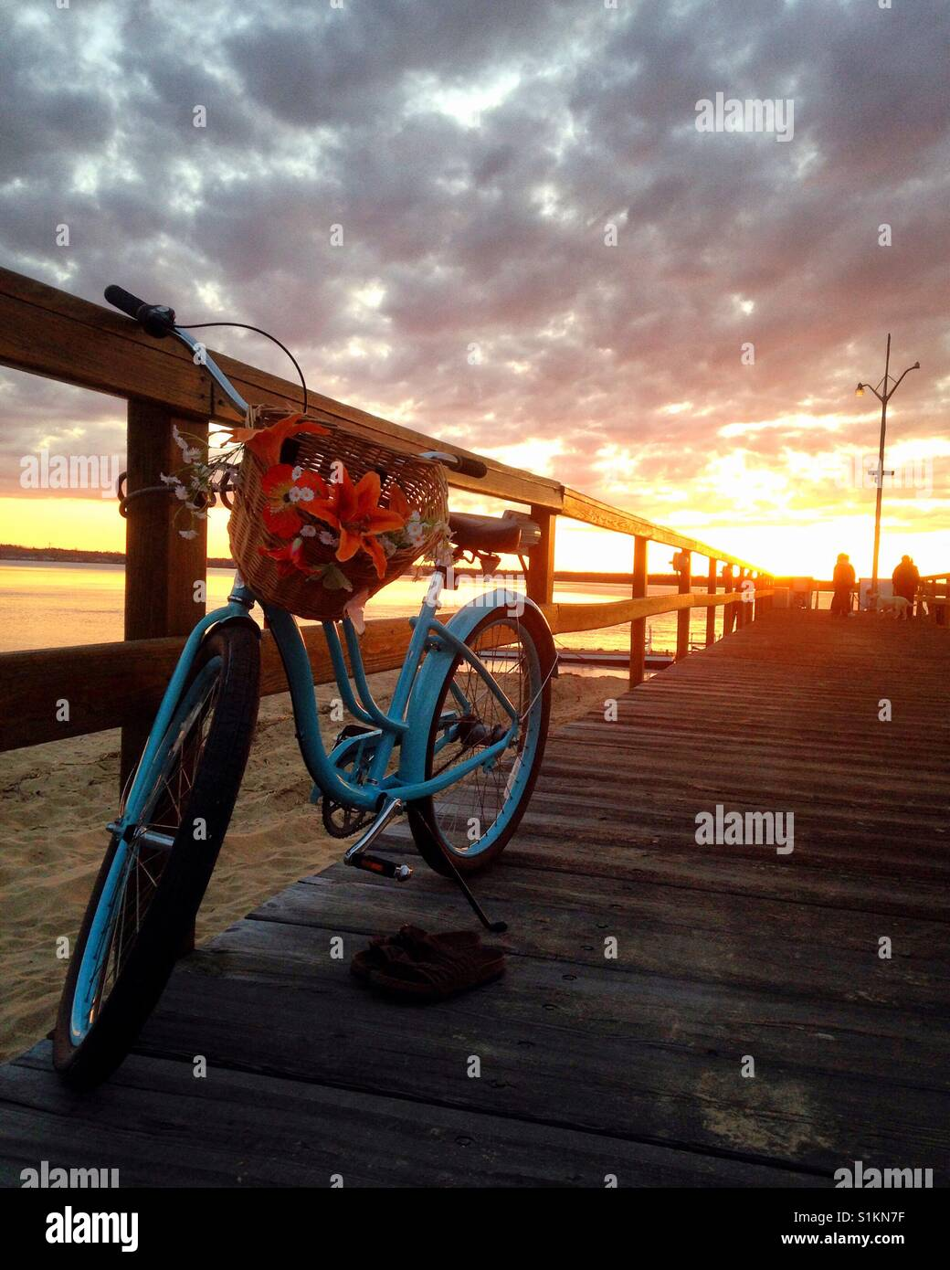 Ride into the sunset - Stock Image