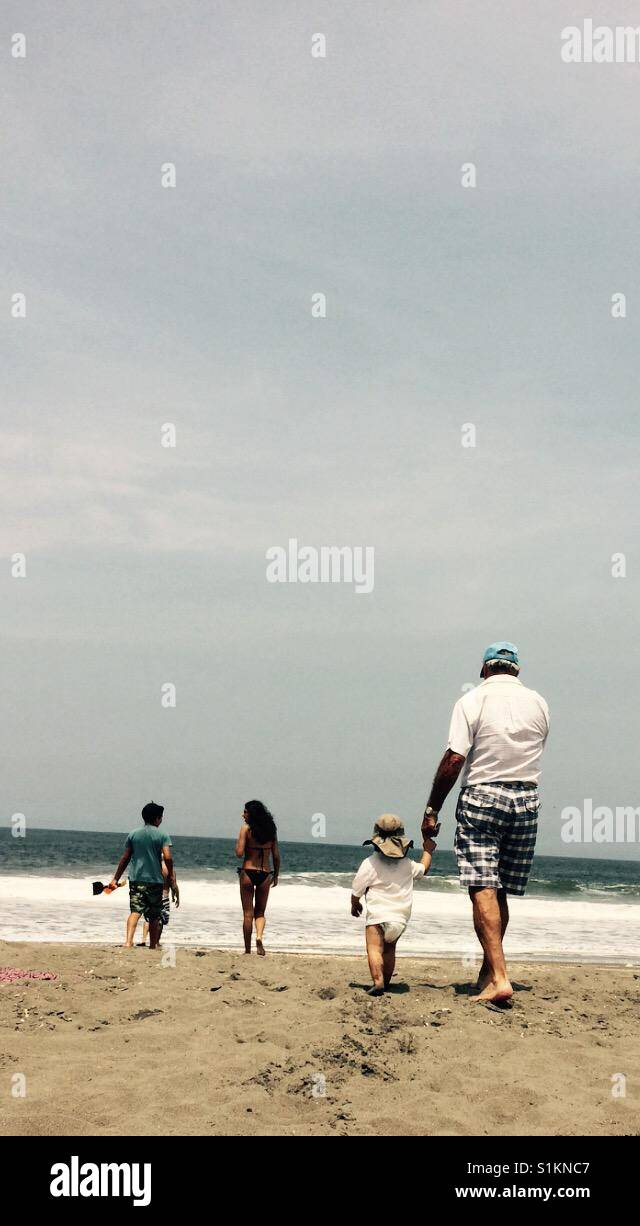 Grandpa and kids - Stock Image