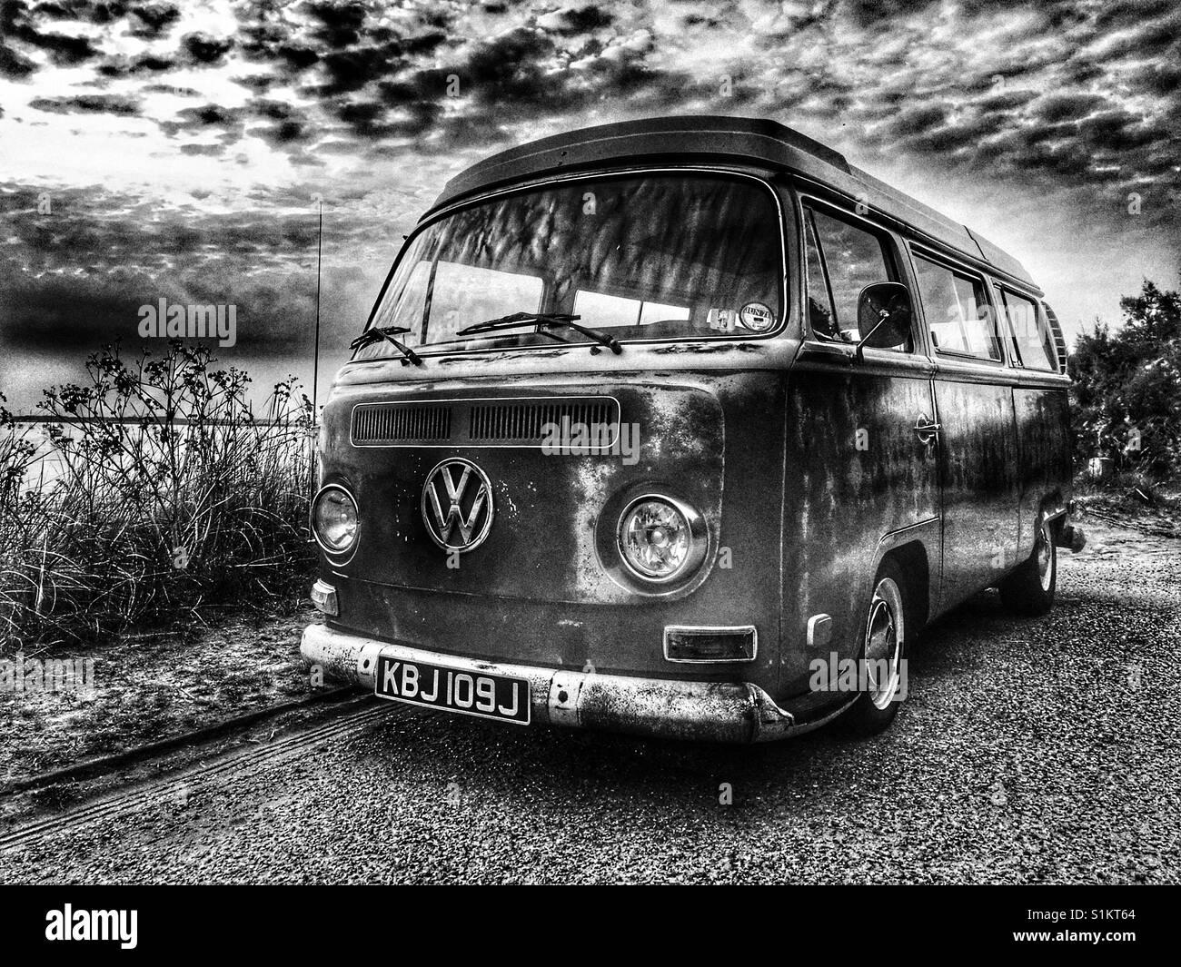 VW camper bus - Stock Image