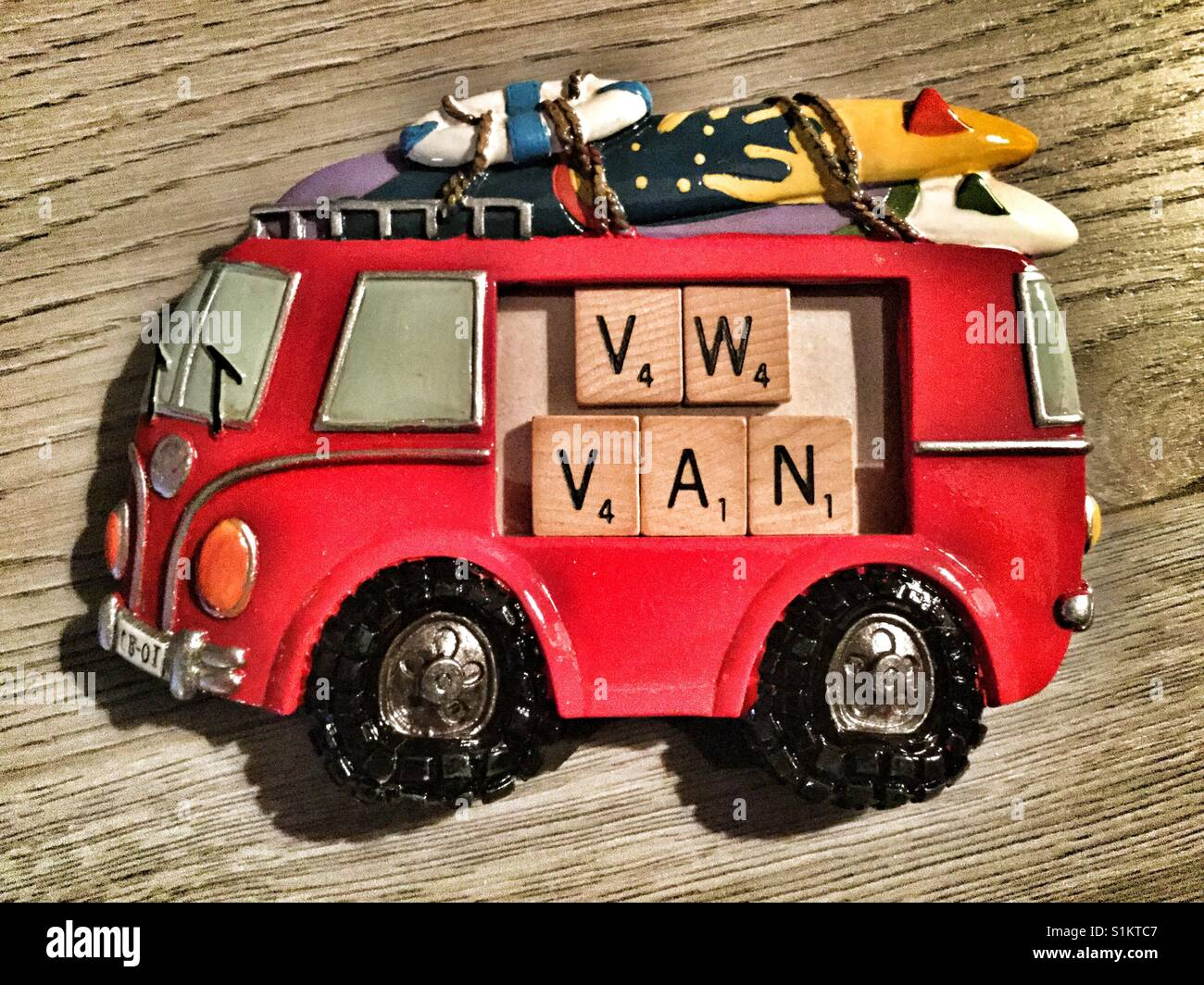 VW van picture frame. - Stock Image