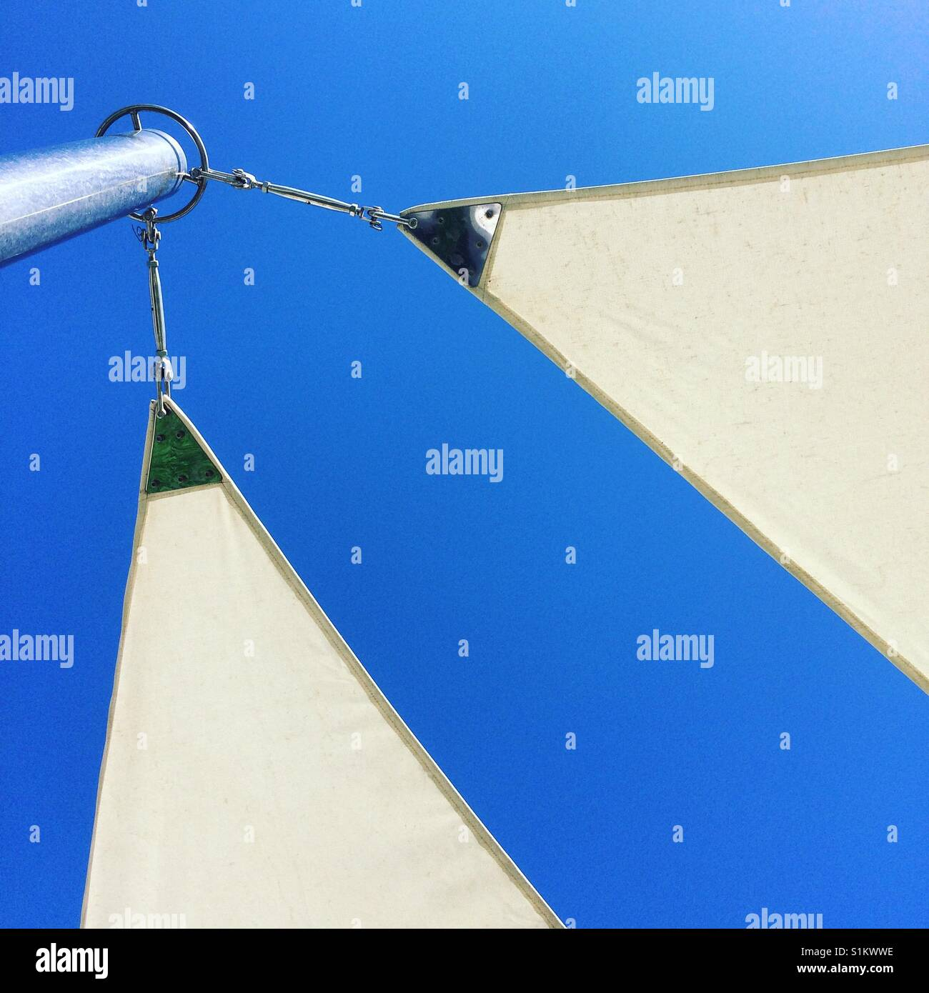 Sunbed View - Stock Image