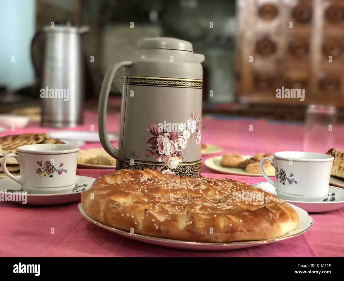 Kashmiri Tea Time - Stock Image