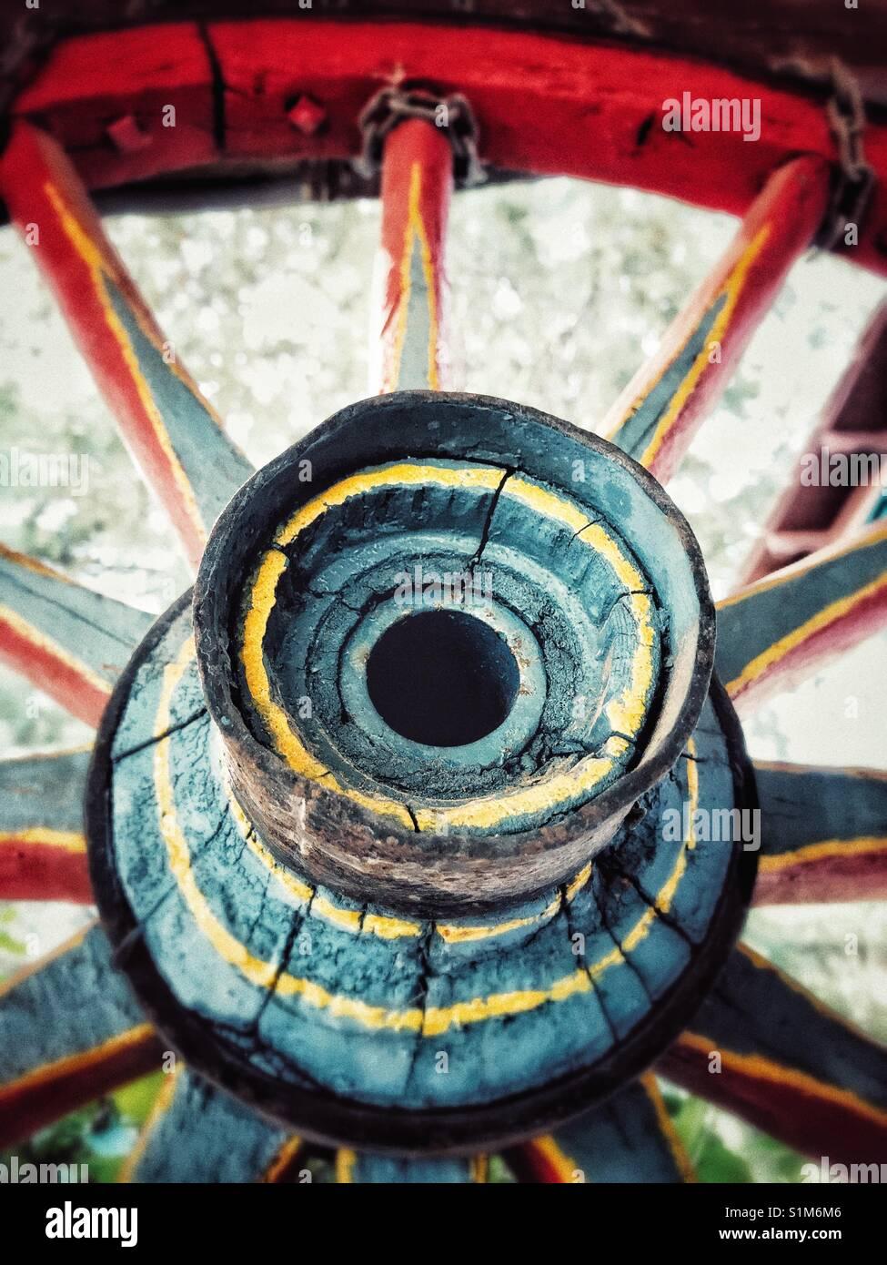 Gypsy cartwheel detail - Stock Image