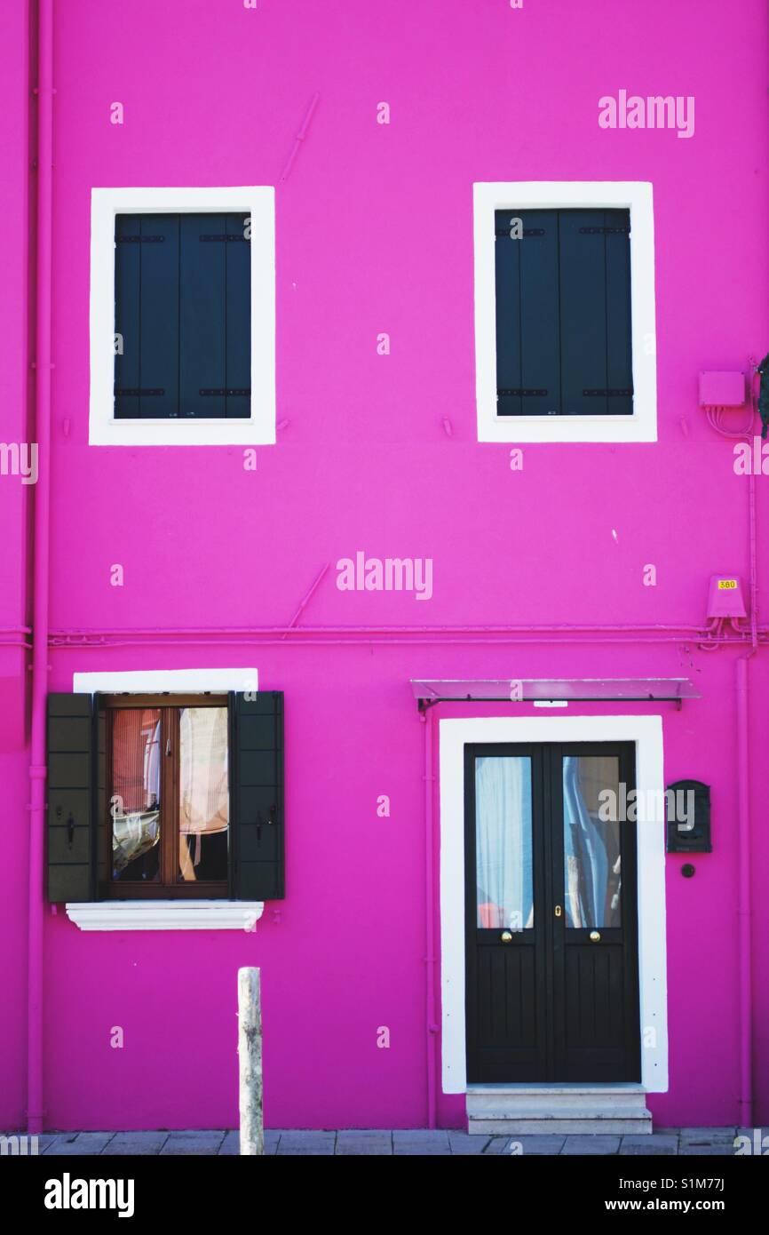 Pink house at Murano island Stock Photo: 310846022 - Alamy