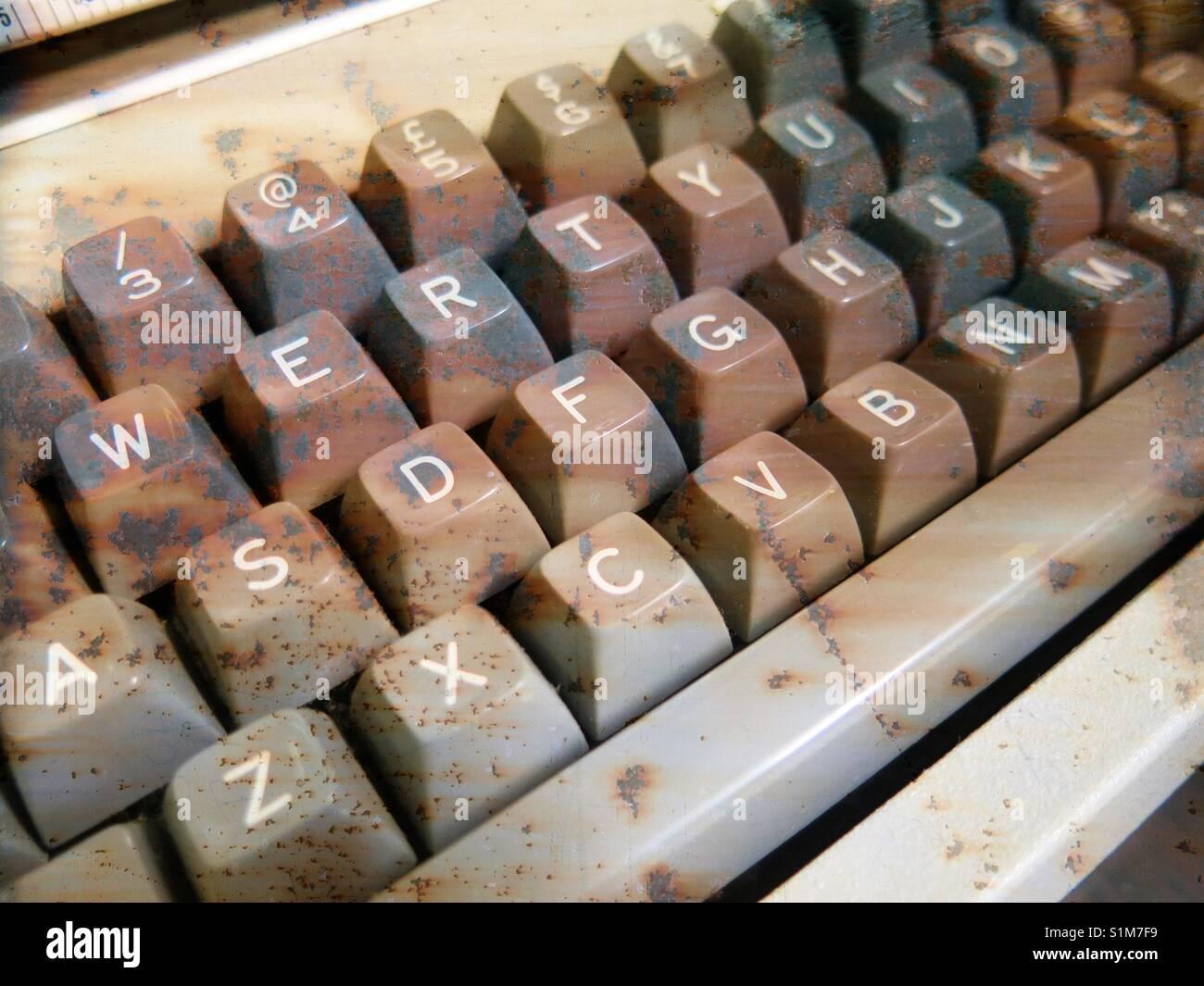 Vintage retro keyboard computer keys Stock Photo 310846237