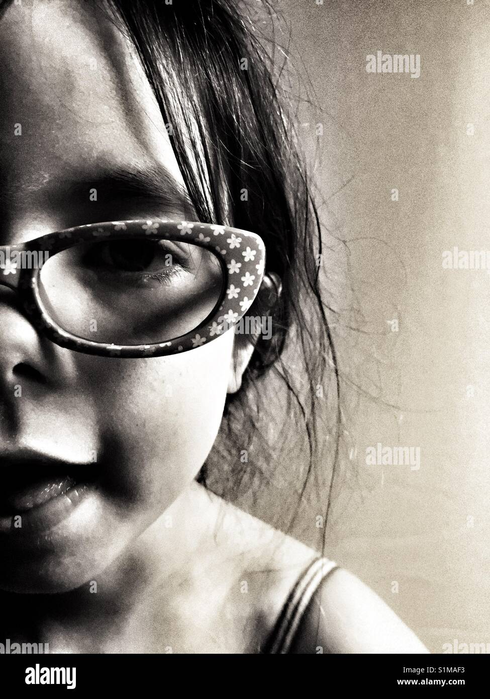 277d3e36fda2 Year Old Girl Wearing Glasses Stock Photos & Year Old Girl Wearing ...