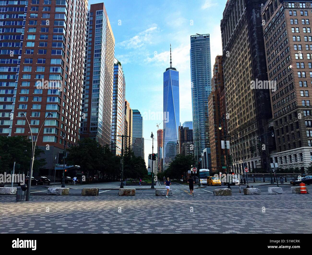 Mornings at The World Trade Centre. - Stock Image