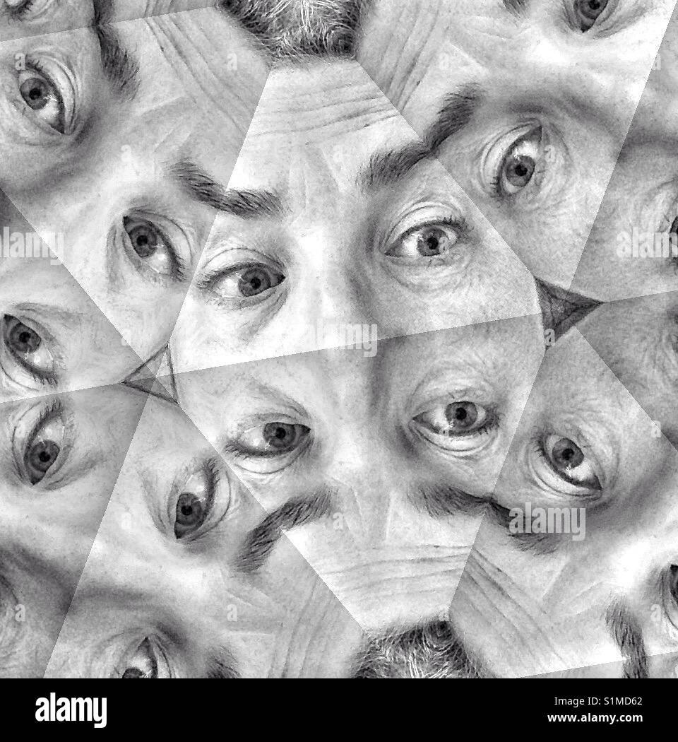 Paranoia eyes - Stock Image