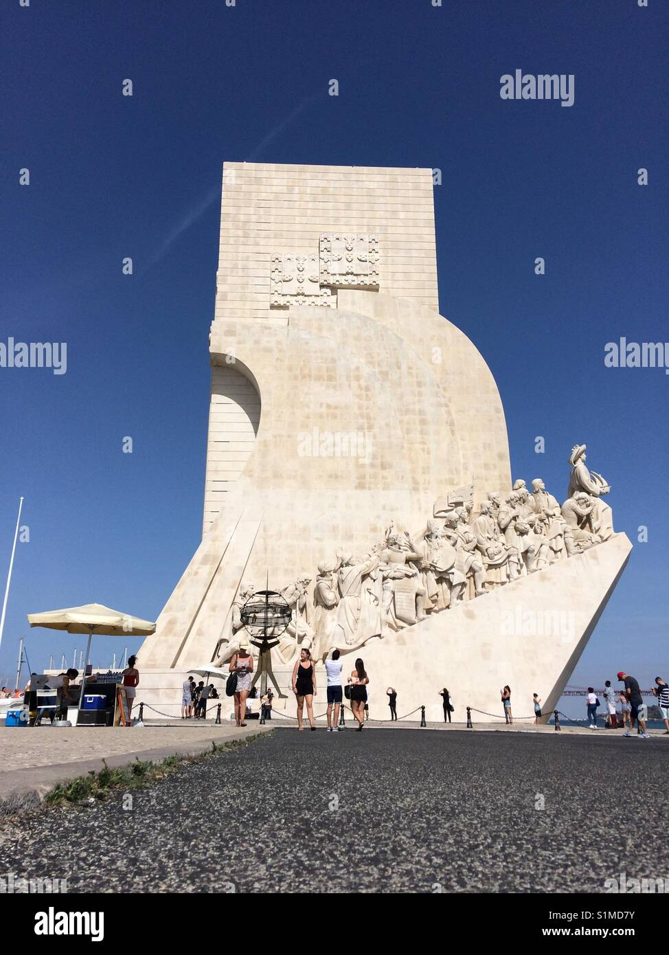 Discoveries monument - Stock Image