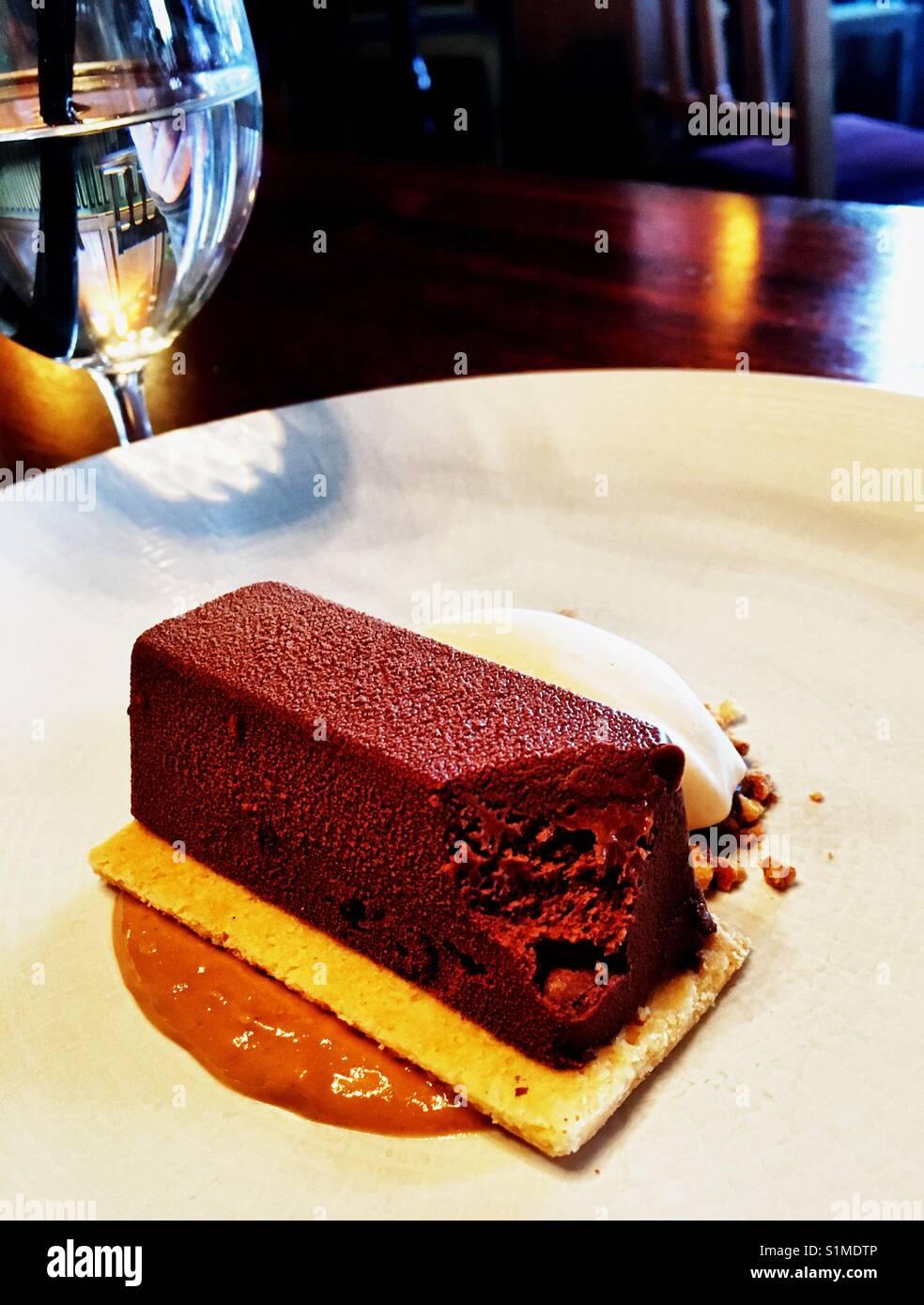 Chocolate Dessert - Stock Image