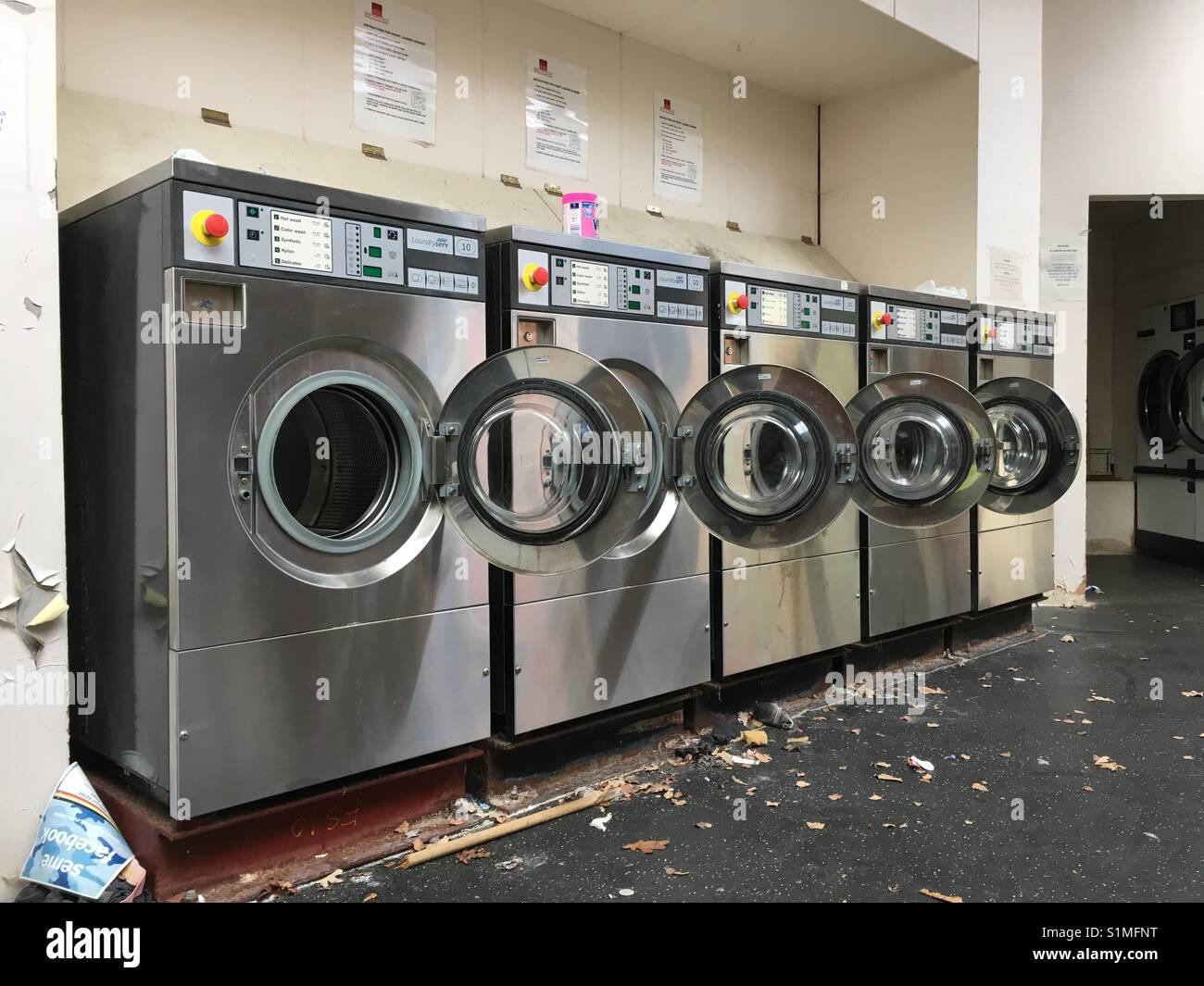 Empty commercial washing machines Stock Photo: 310852692 - Alamy