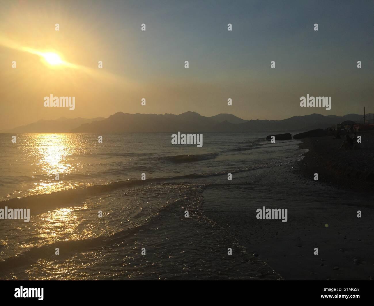 Mare al tramonto - Stock Image