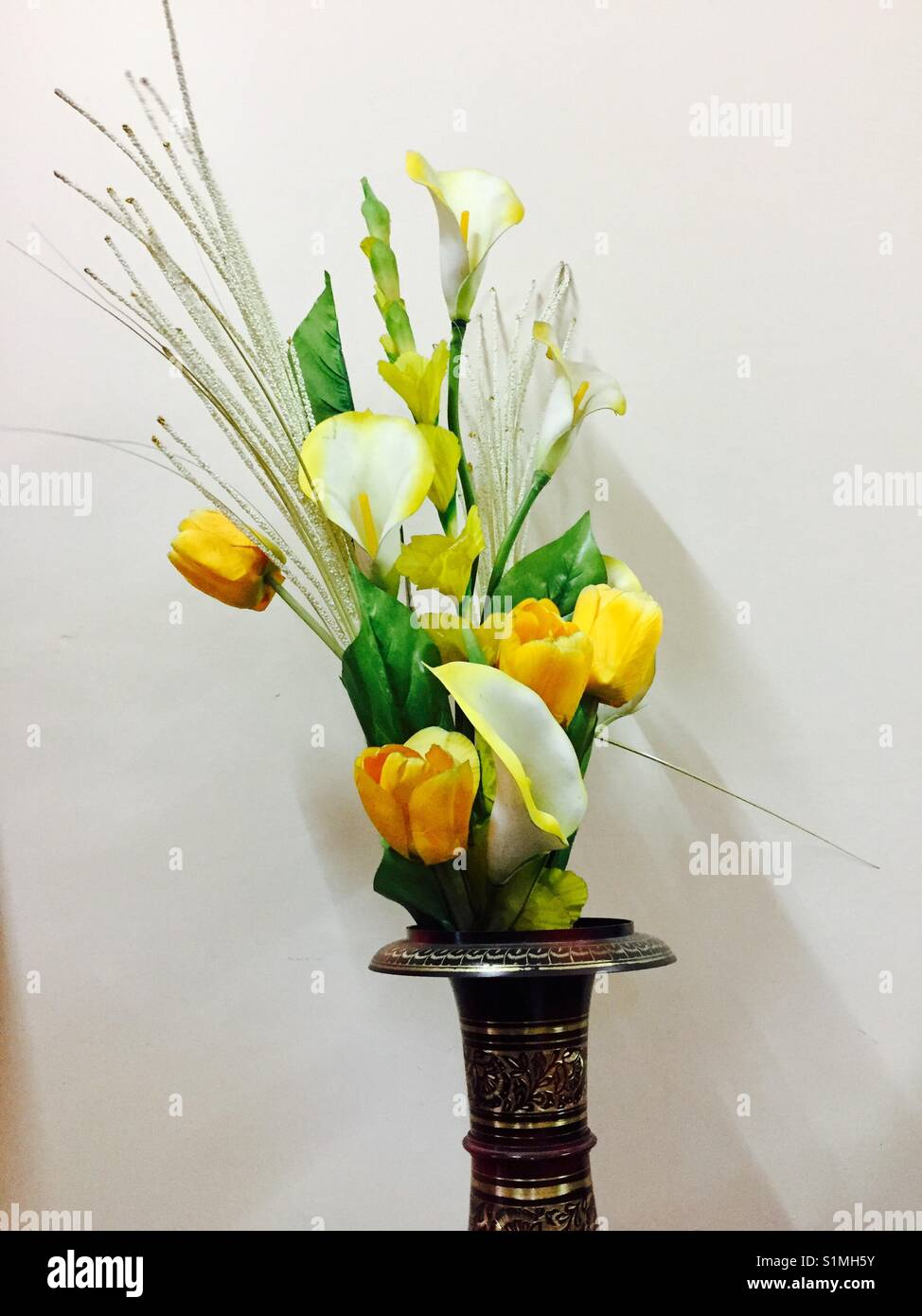 Beautiful flower vase for home decor - Stock Image