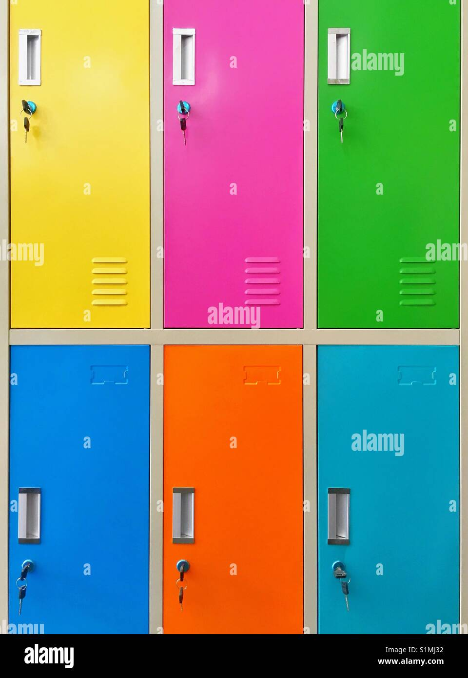 Colourful locker doors - Stock Image  sc 1 st  Alamy & Locker Doors Stock Photos u0026 Locker Doors Stock Images - Alamy