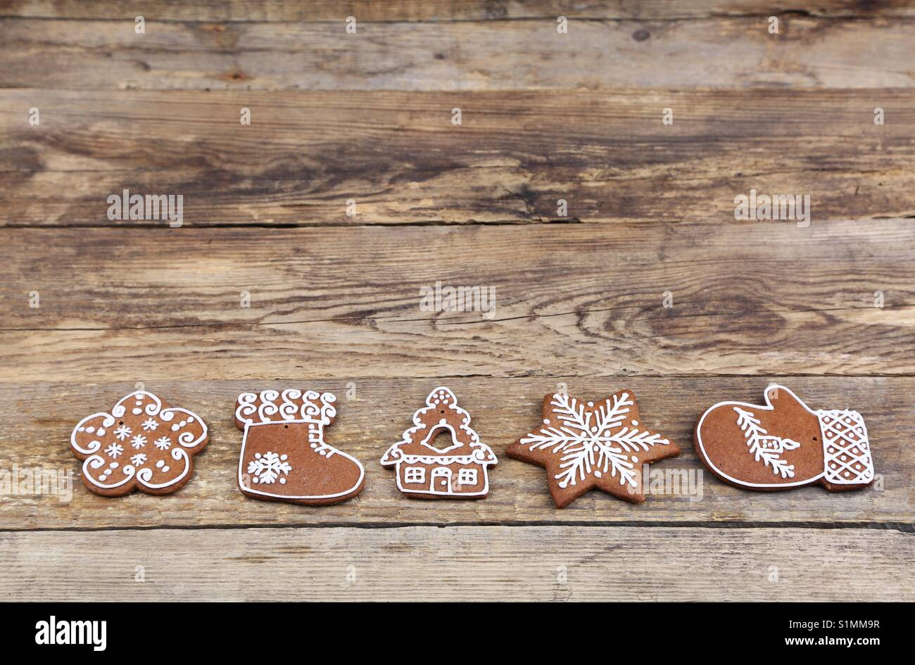 Christmas gingerbread cookies - Stock Image