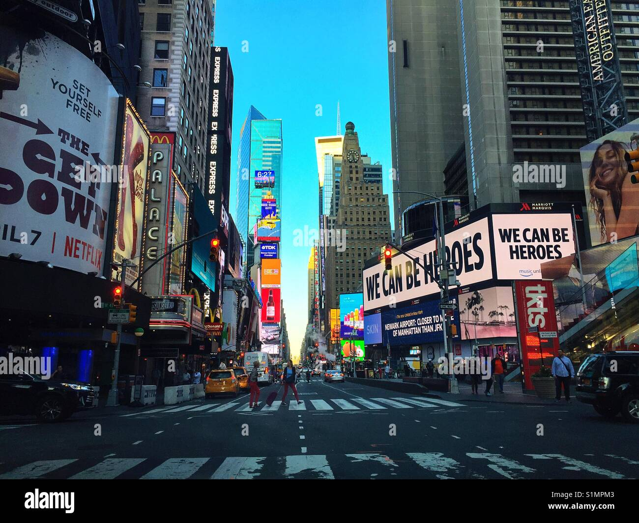 Mornings in Times Square.! - Stock Image