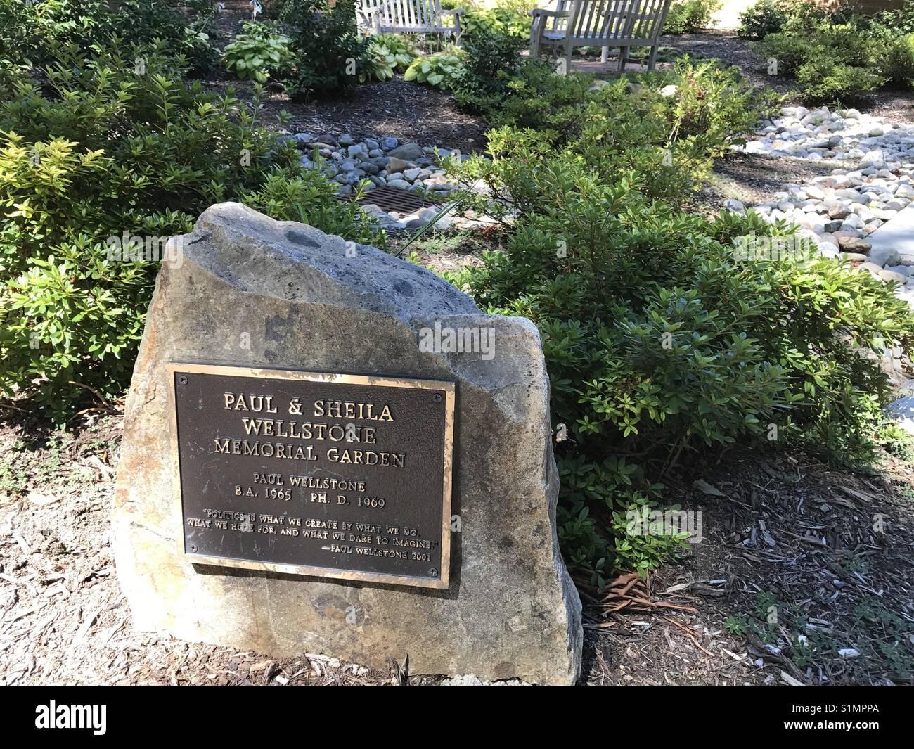 Paul Wellstone Memorial - Stock Image