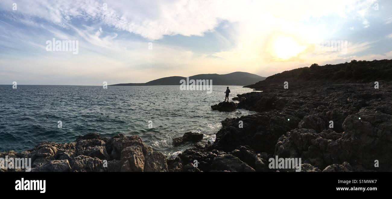 Plavi Horizont beach, near Tivat city, Montenegro - Stock Image