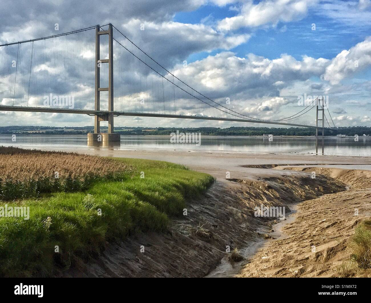 The Humber Bridge over the River Humber East Yorkshire UK Stock Photo