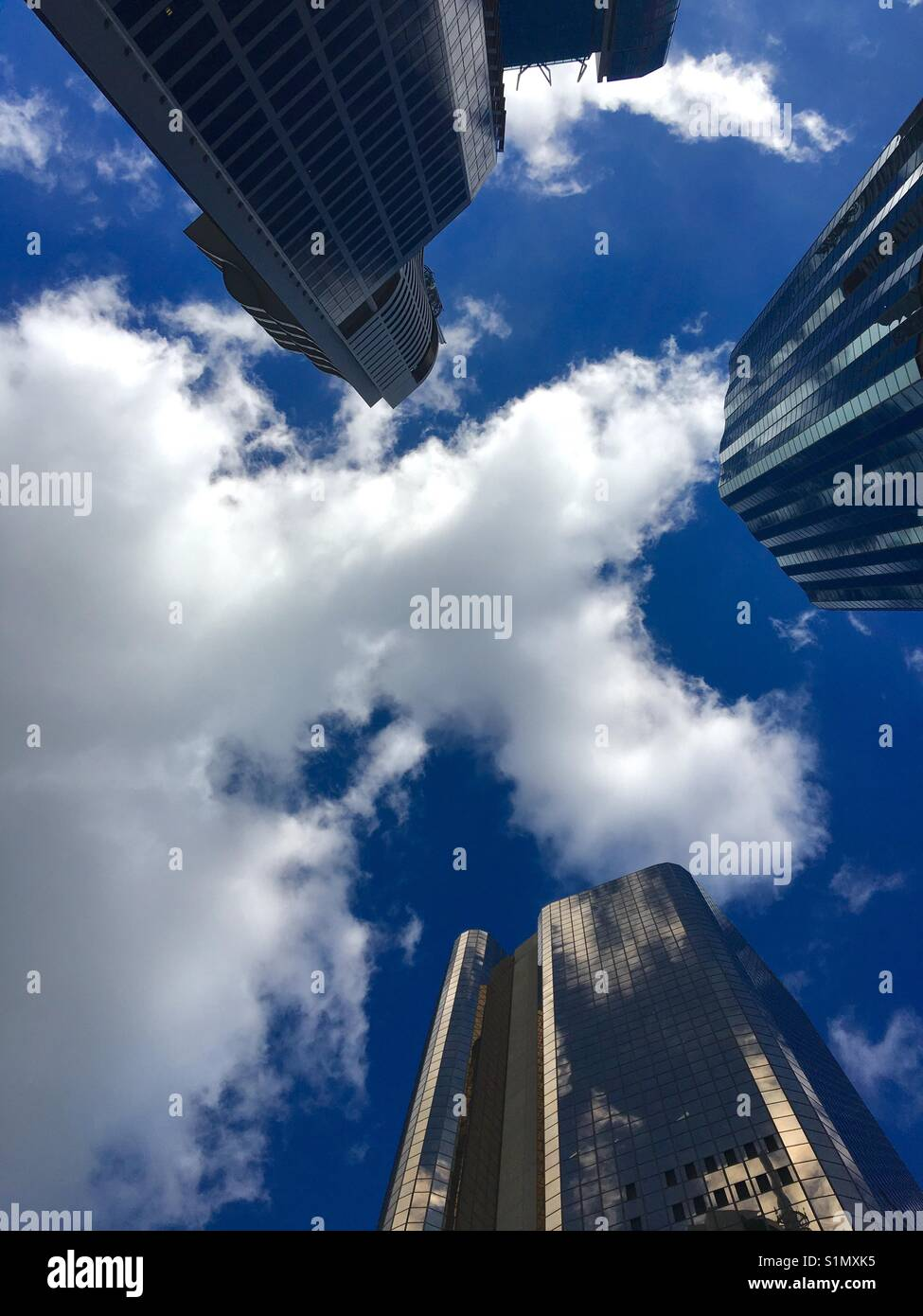 High rise skyscrapers in central business district of Brisbane Australia - Stock Image