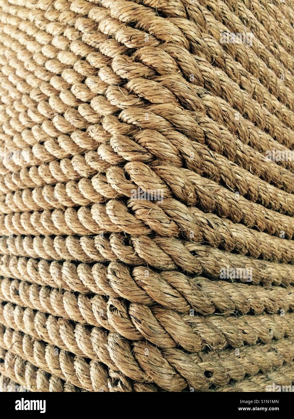 Rope wall - Stock Image