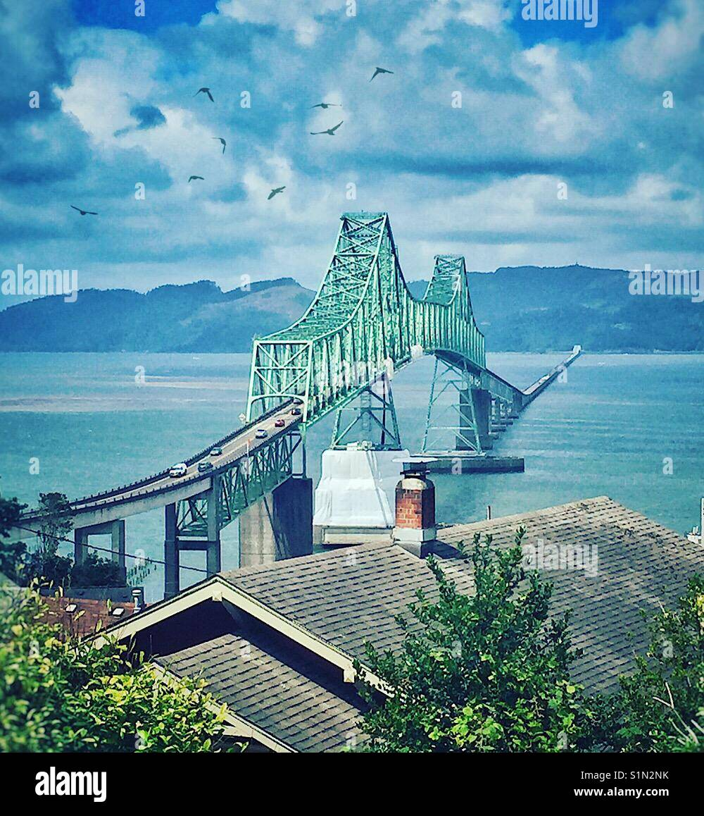 Astoria Megler Bridge - Stock Image