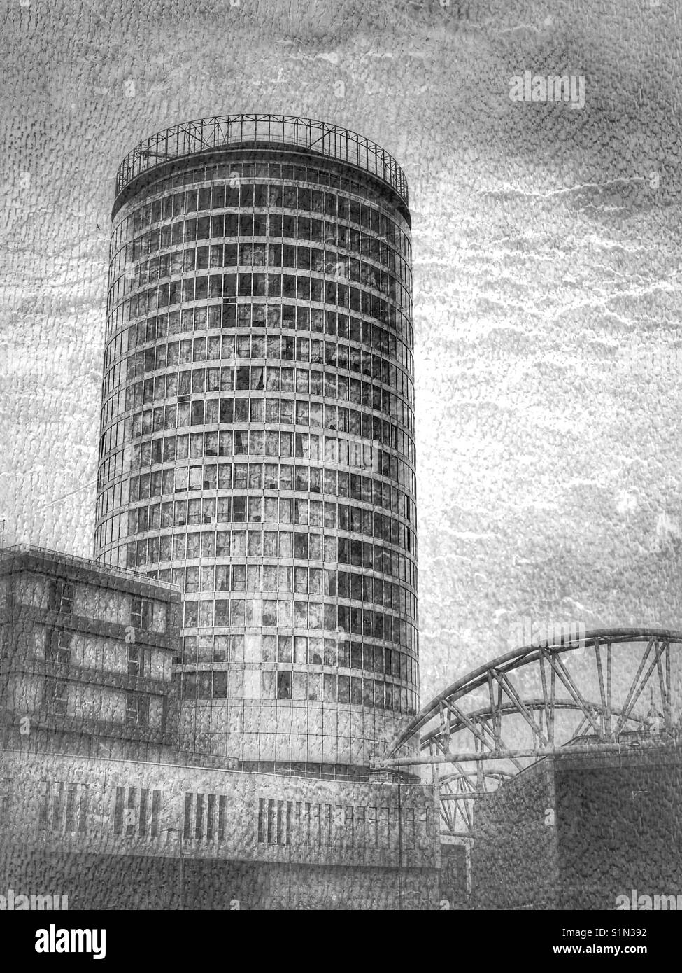 The landmark Rotunda building, Birmingham, UK - Stock Image
