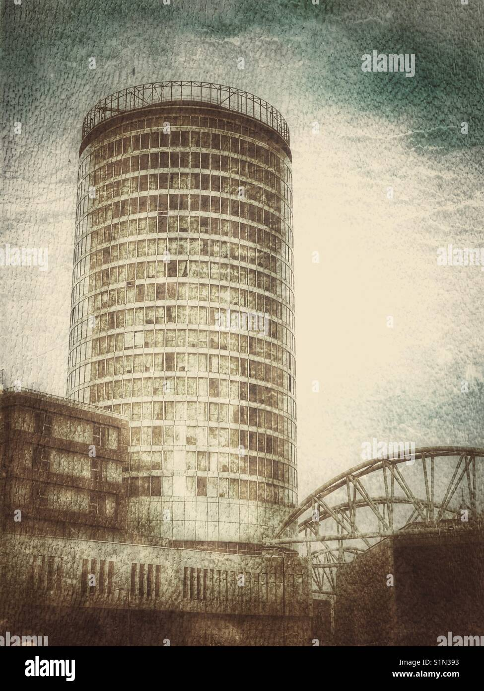 The landmark Rotunda building Birmingham, UK - Stock Image