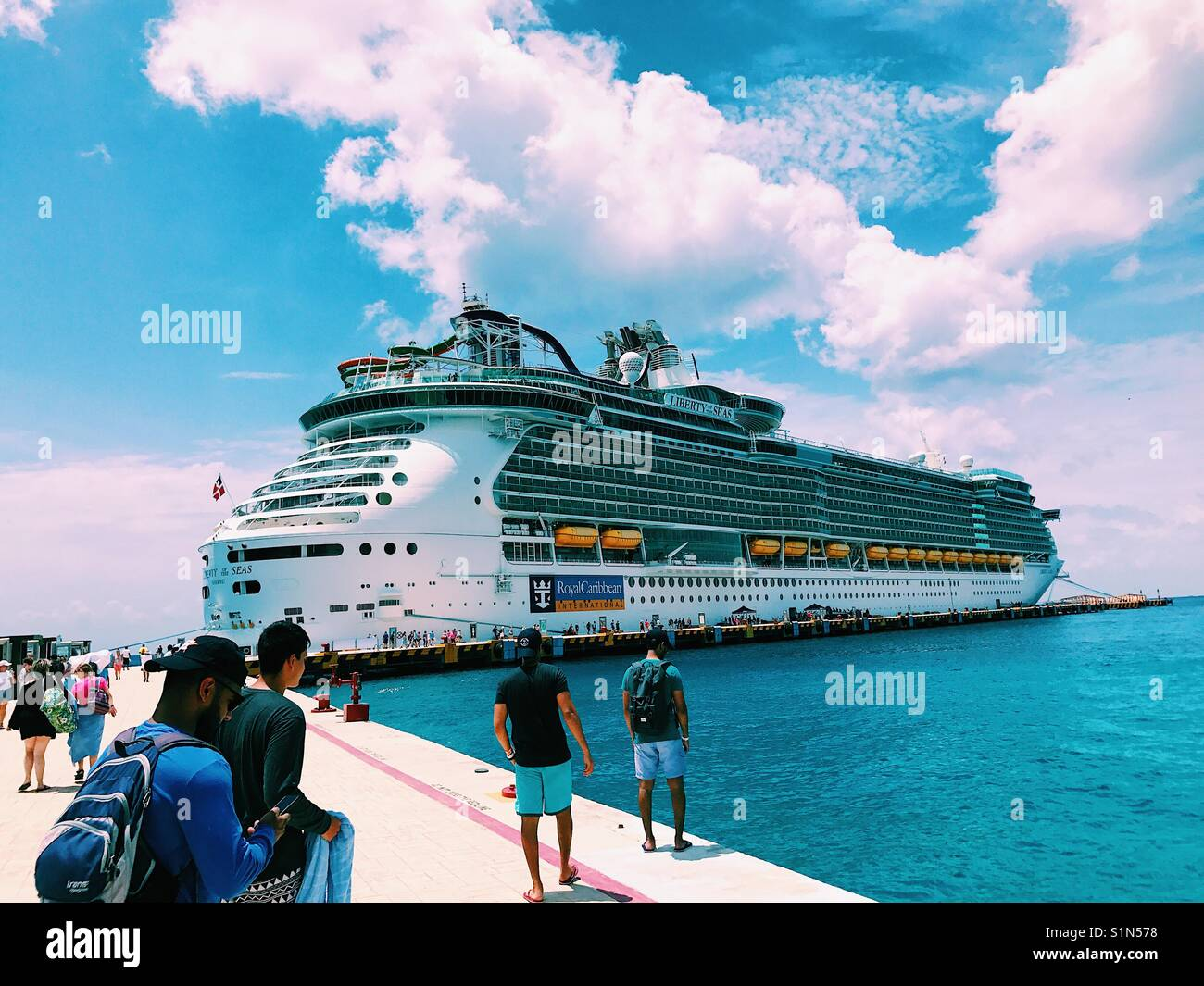 liberty of the seas stock photo 310866396 alamy