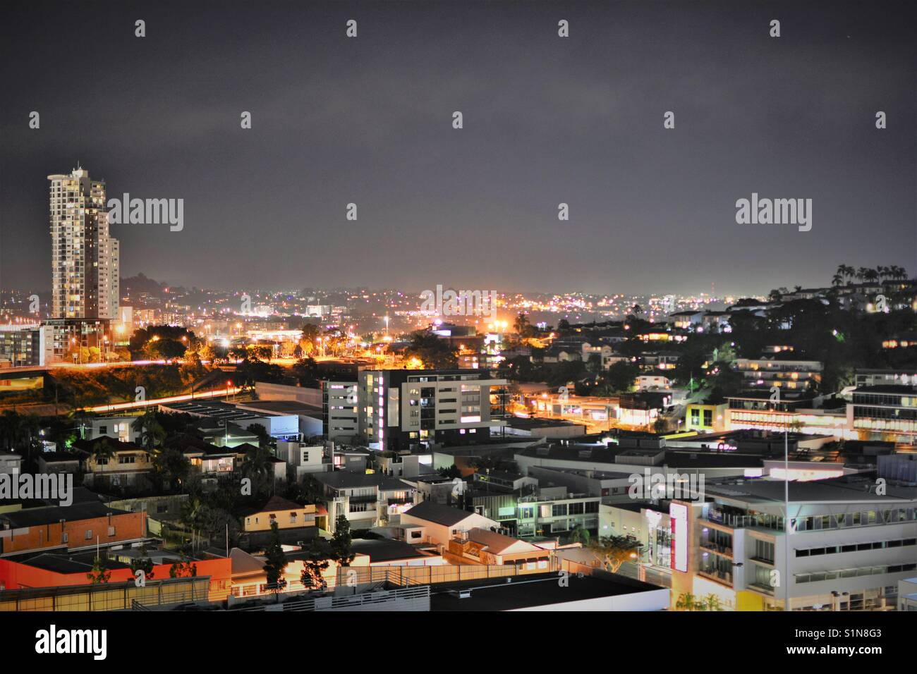 Night Brisbane Stock Photo