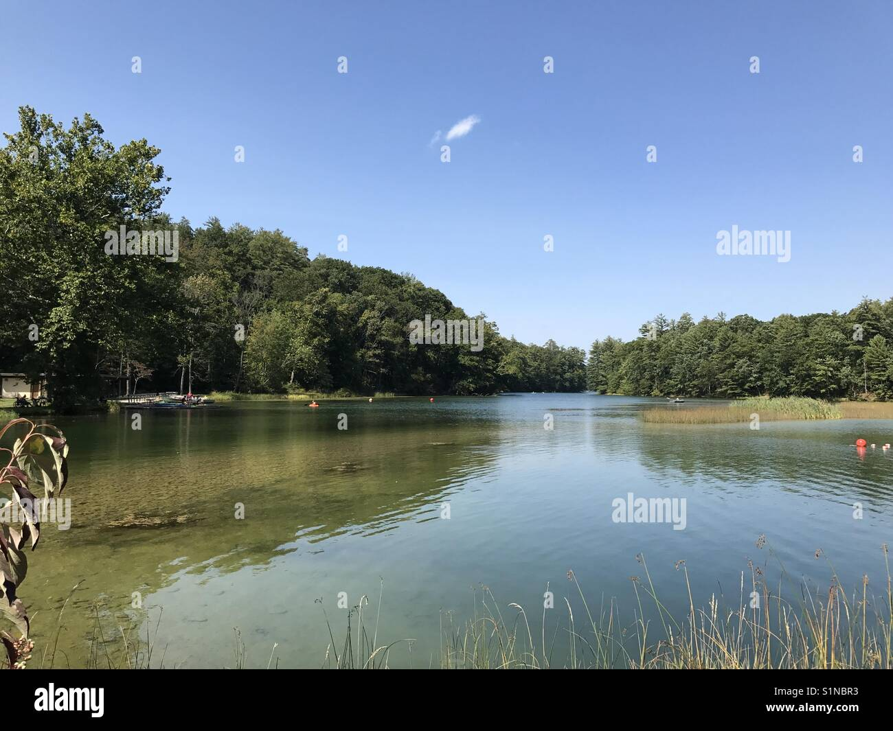 Boaters on the lake - Stock Image