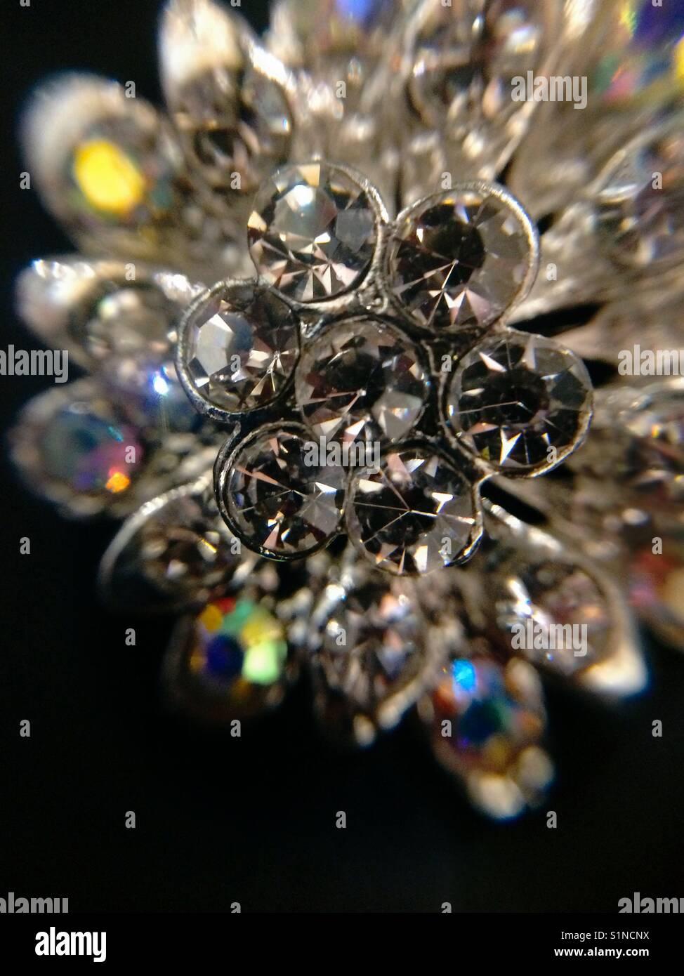 Shimmering Diamonds - Stock Image