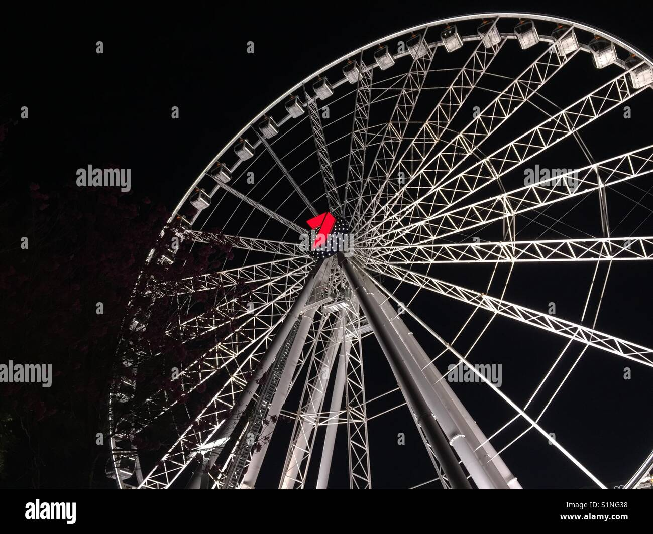 Wheel of Brisbane, 360 degree panoramic views of Brisbane City,60 metres above the ground in the safety and comfort - Stock Image