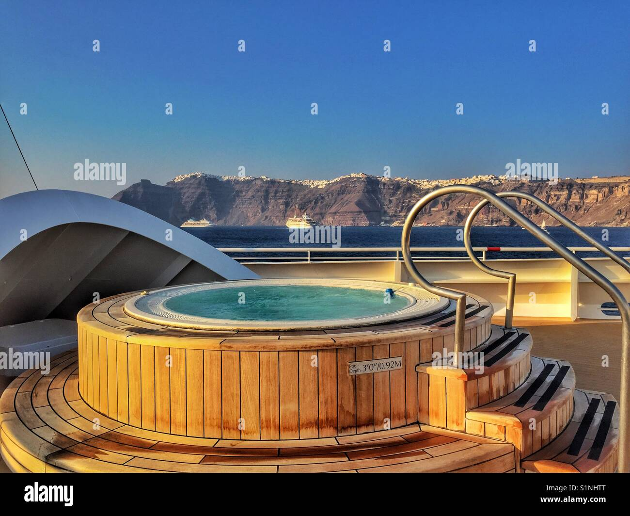 Jacuzzi with a view - Stock Image