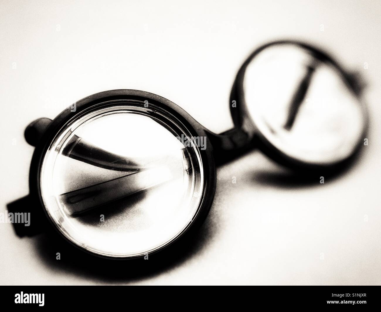 9c3020959a22f Black framed glasses Stock Photo  310877135 - Alamy