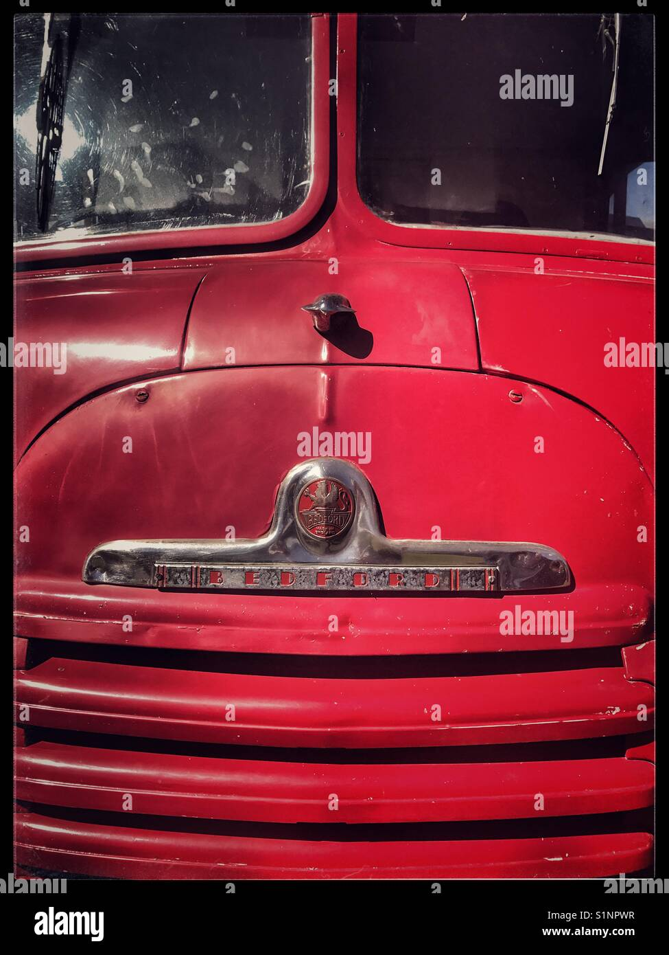 Red Bedford truck. - Stock Image