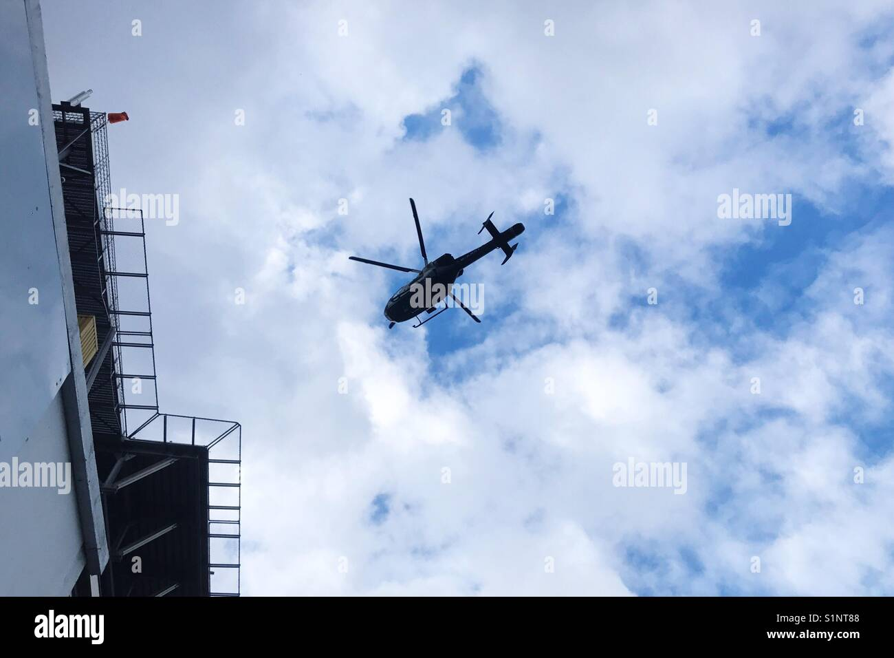Helicopter in London - Stock Image