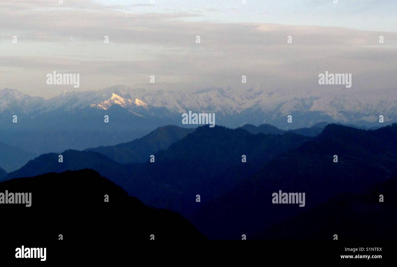 The mighty Himalayas - Stock Image