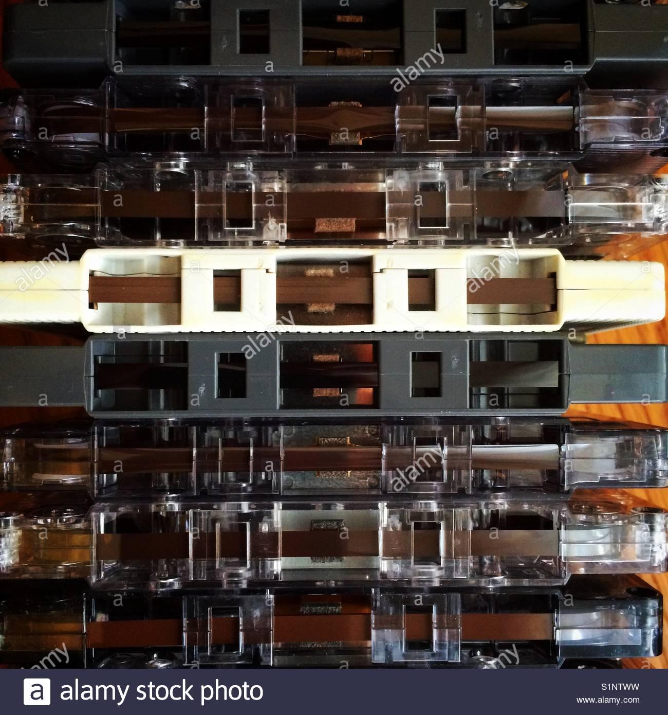 Cassette tape - Stock Image