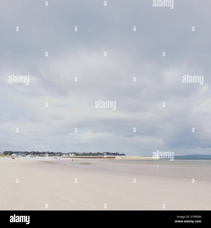 Overlooking Nairn Beach, Moray in Scotland - Stock Image