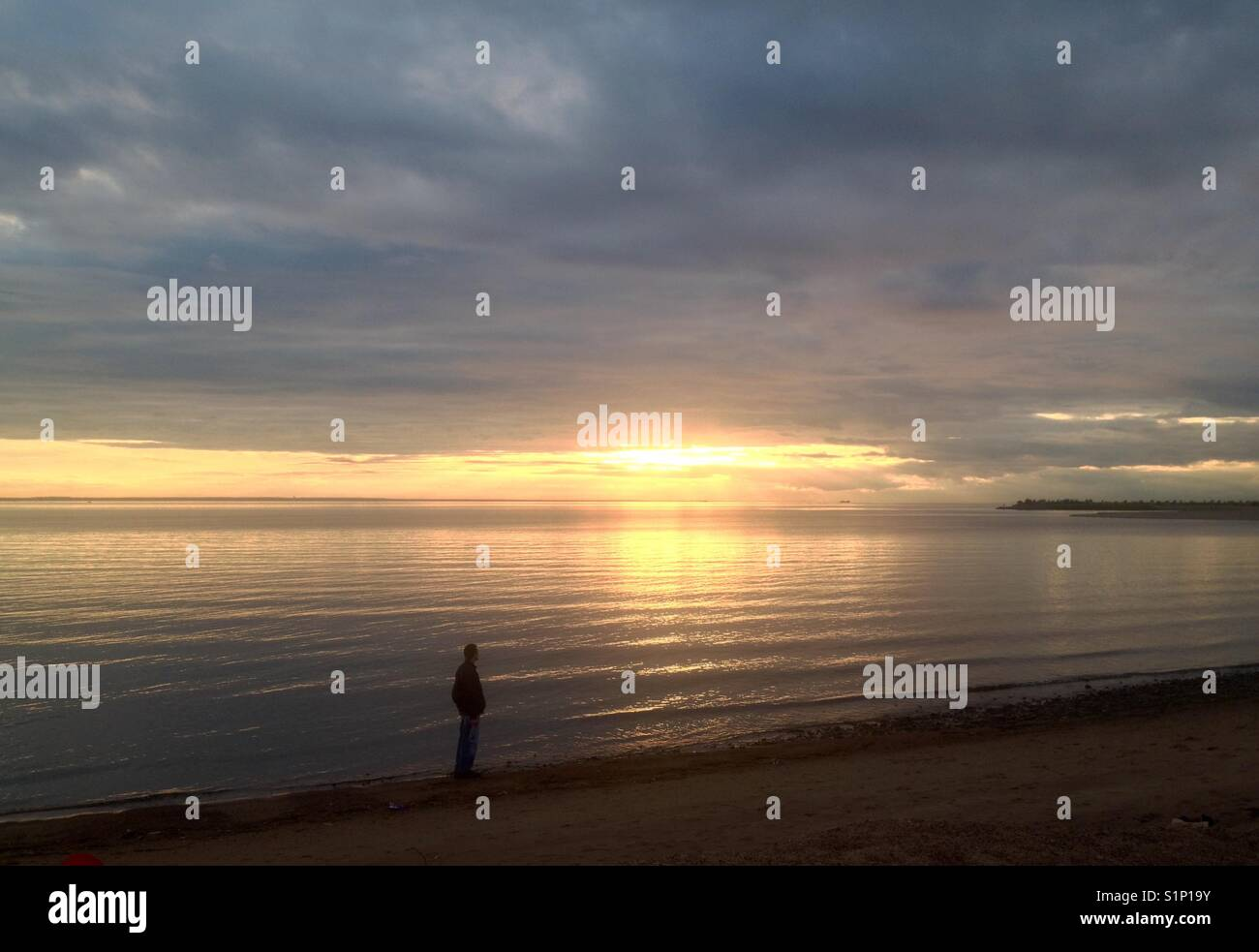 Sunset:silence, contemplation, thoughtlessness - Stock Image