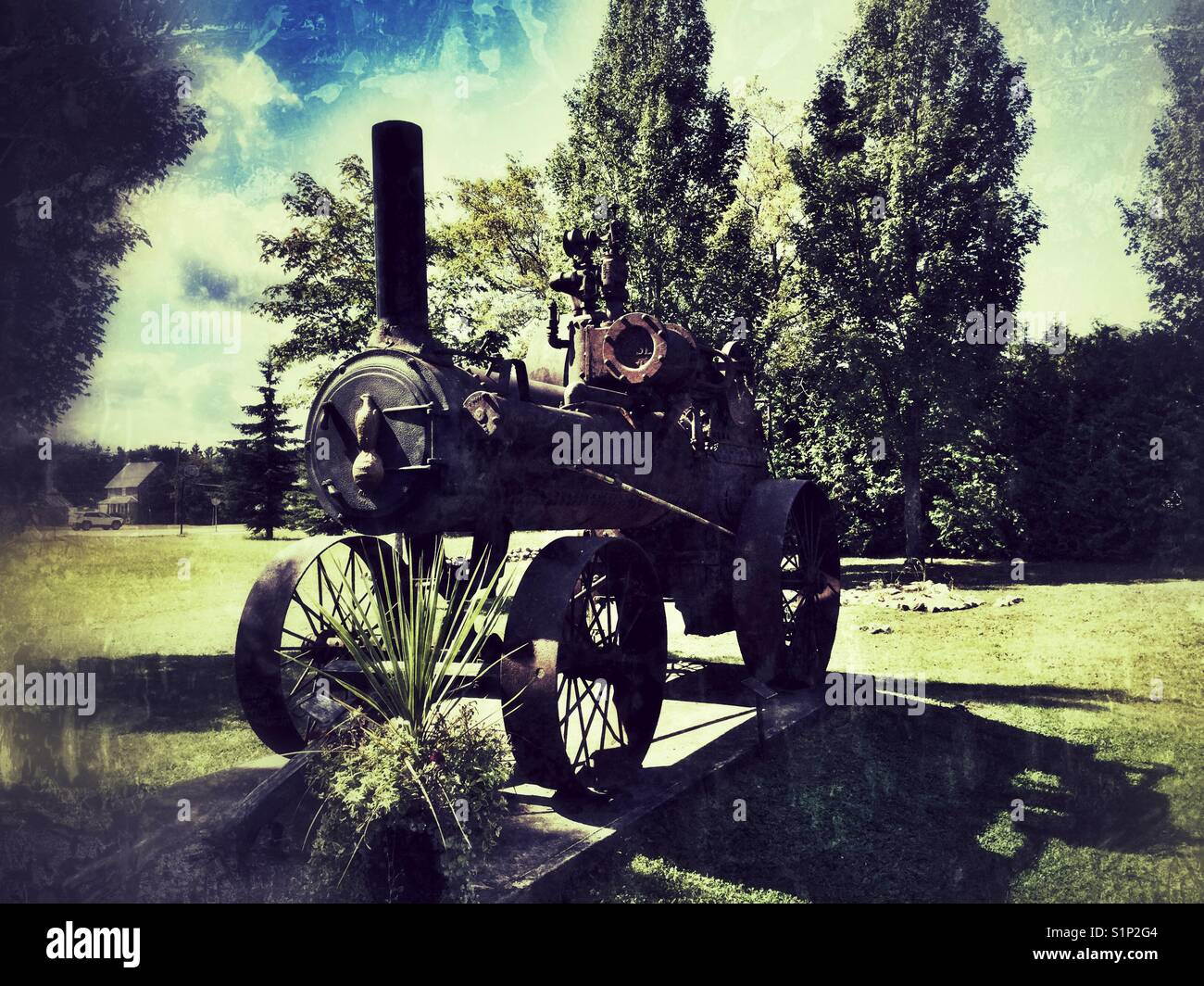 An old historic locomotive engine. - Stock Image