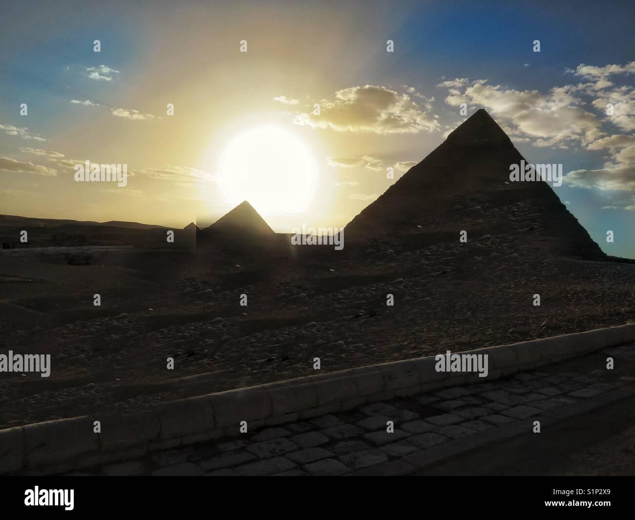 Pyramids, Cairo, Egypt - Stock Image