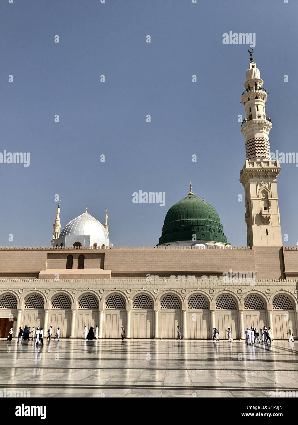 Peace at Prophet Muhammad Mosque - Stock Image