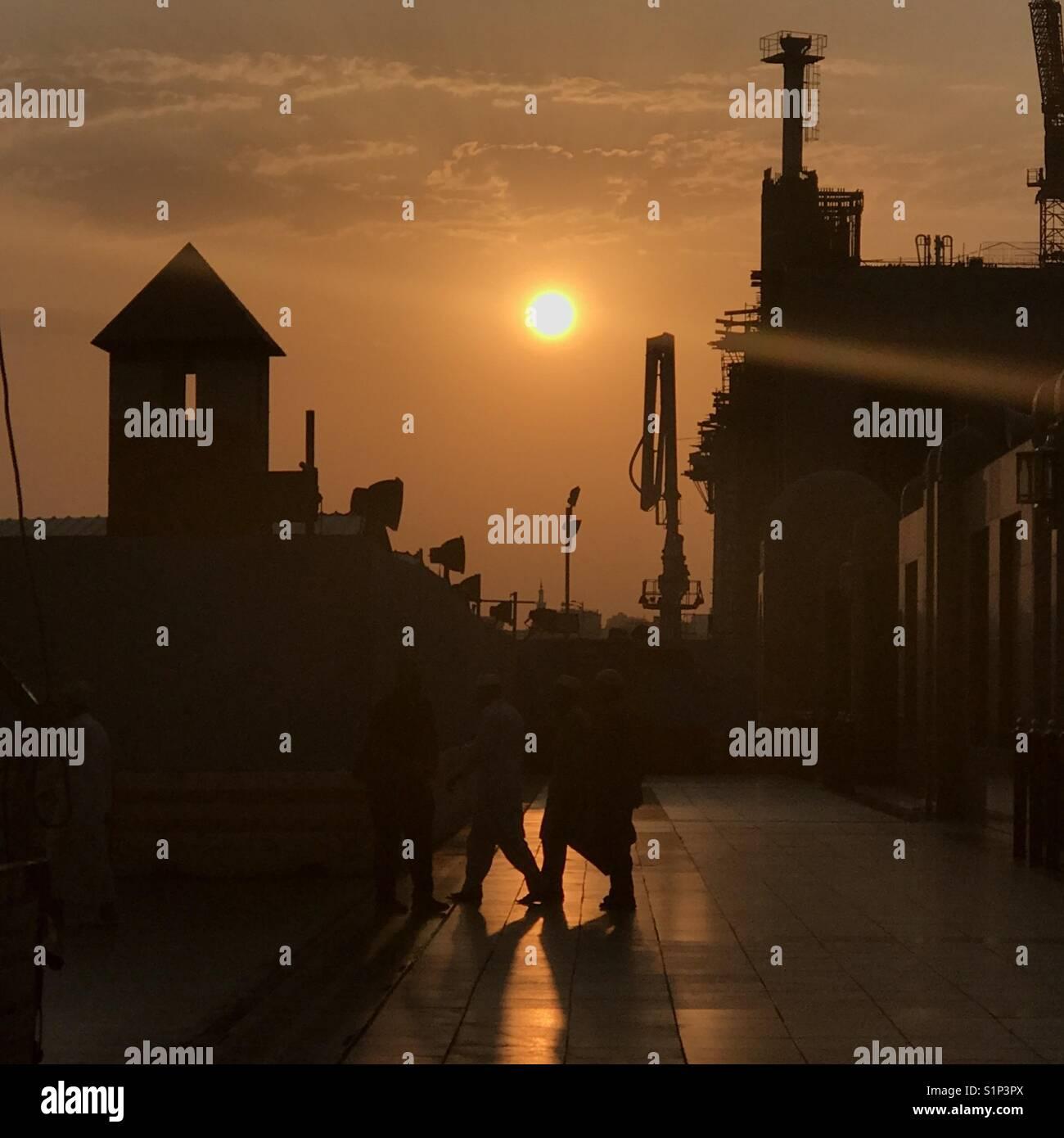 Sunrire in Medina - Stock Image
